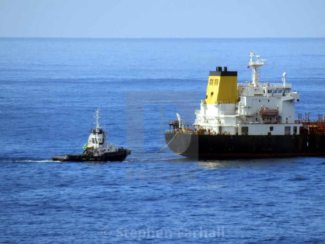 """Oil tanker at sea"" stock image"