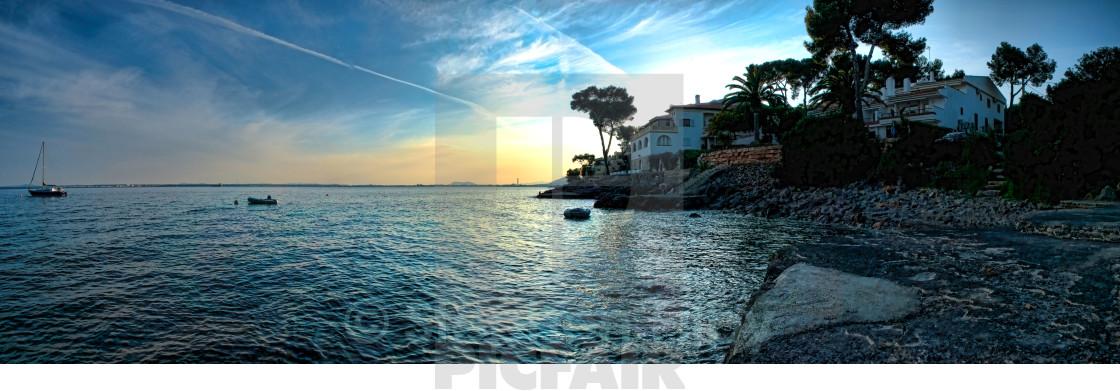 """mallorca sunset"" stock image"