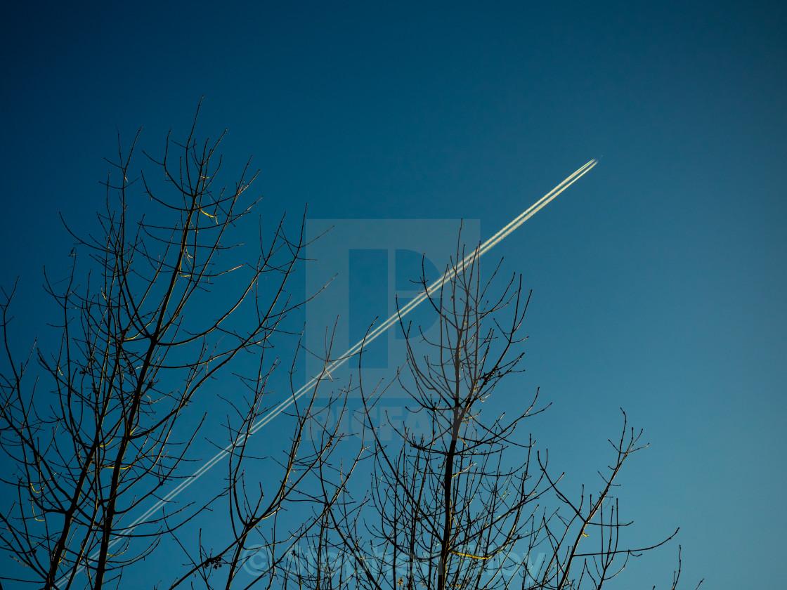 """Jet trails"" stock image"