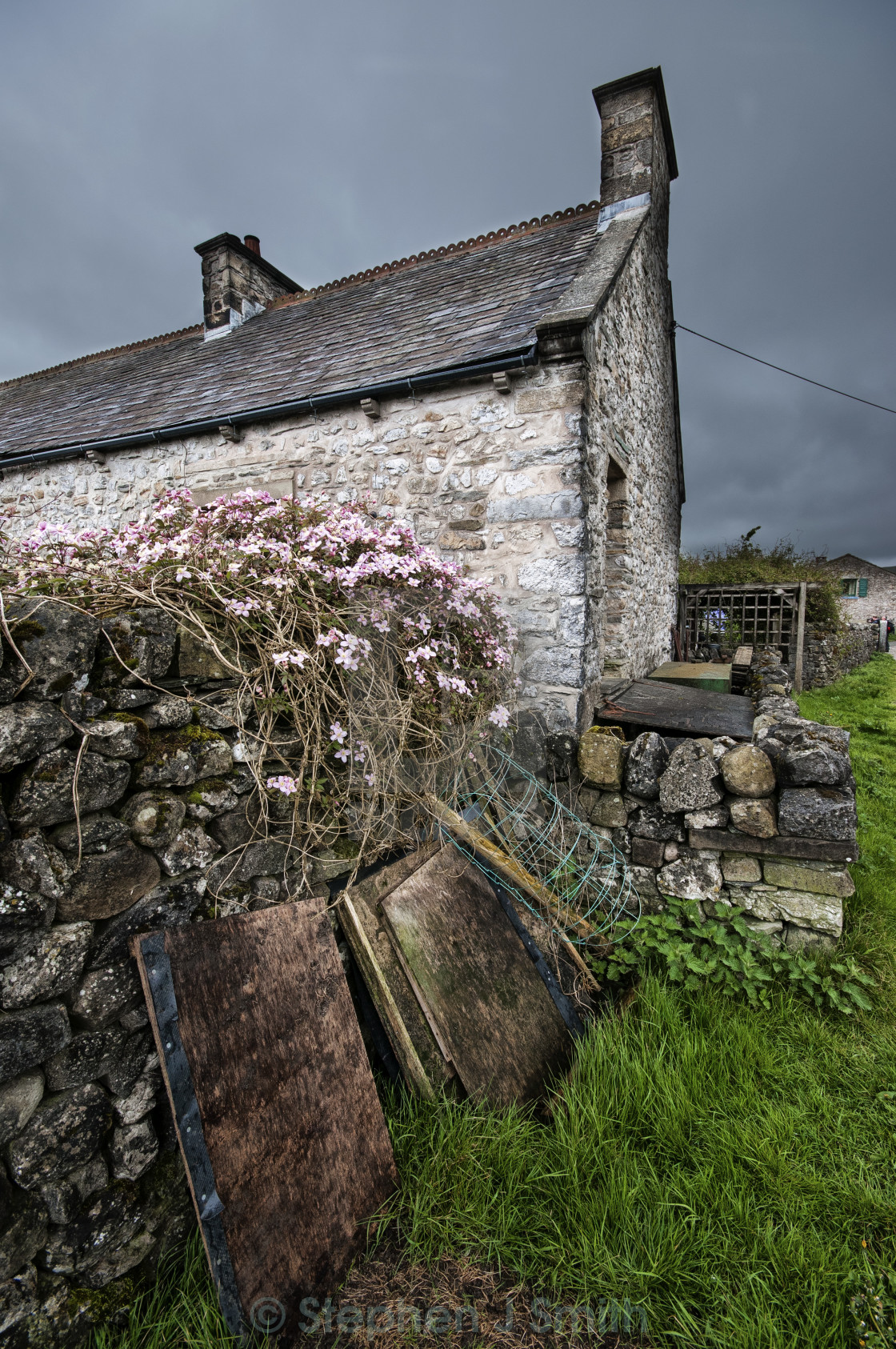 """A Dales Cottage"" stock image"