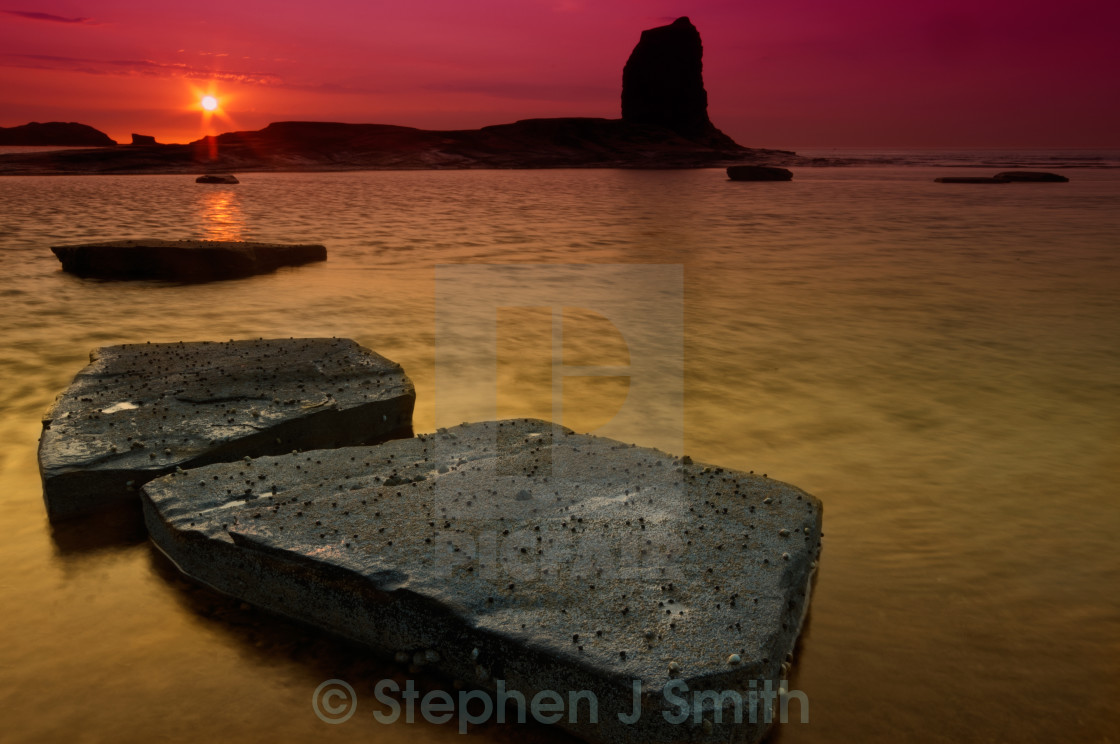 """Saltwick Bay"" stock image"