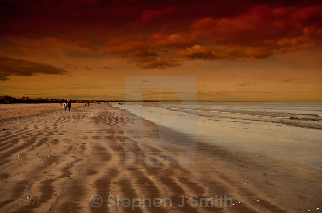 """St Andrews Beach"" stock image"