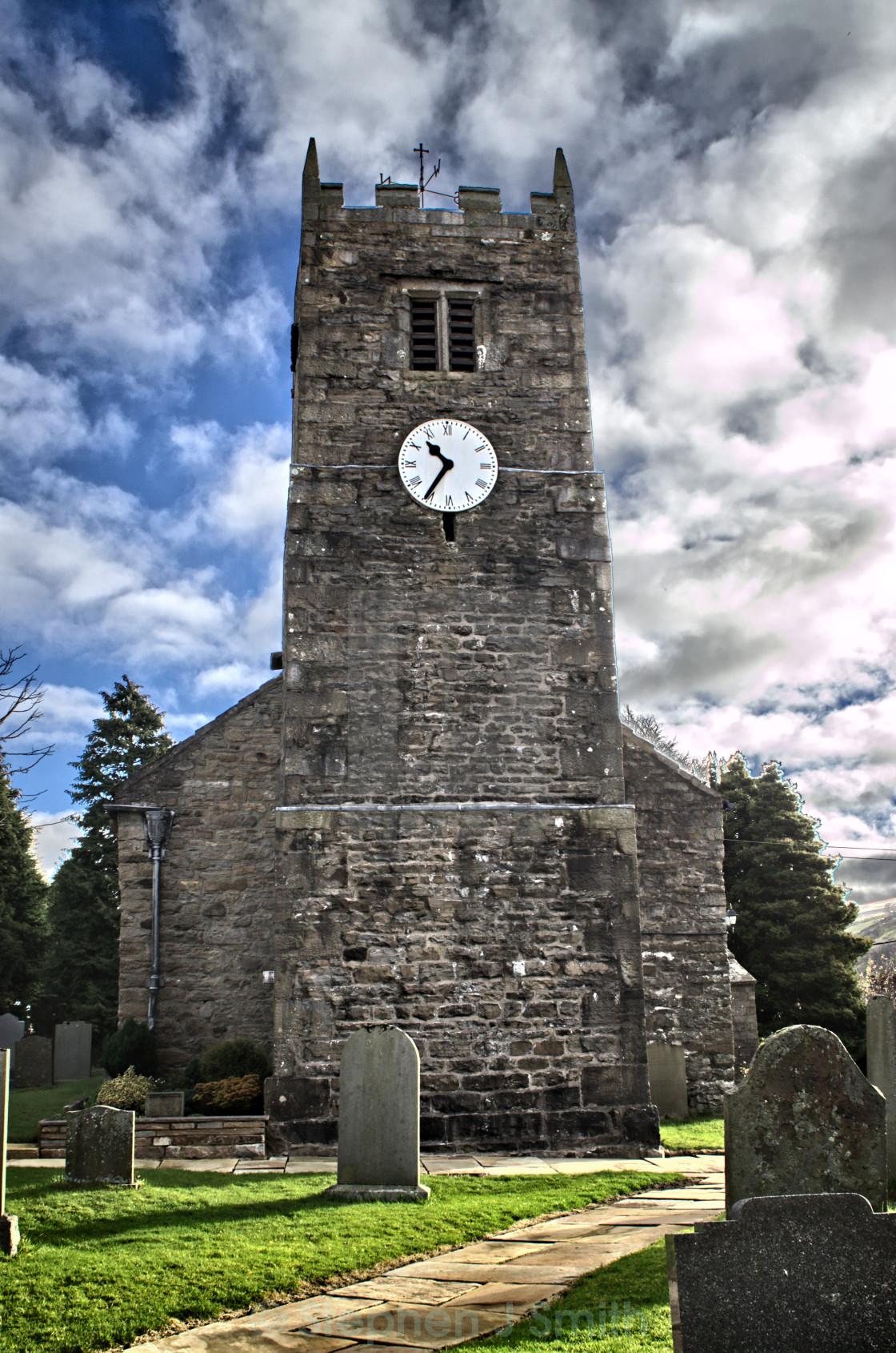 """St Mary's Church, Muker"" stock image"