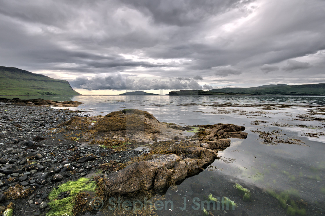 """Loch Na Keal"" stock image"