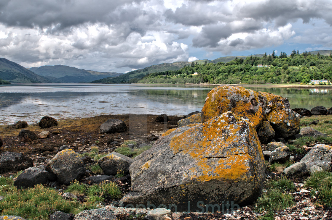 """Loch Shiel"" stock image"