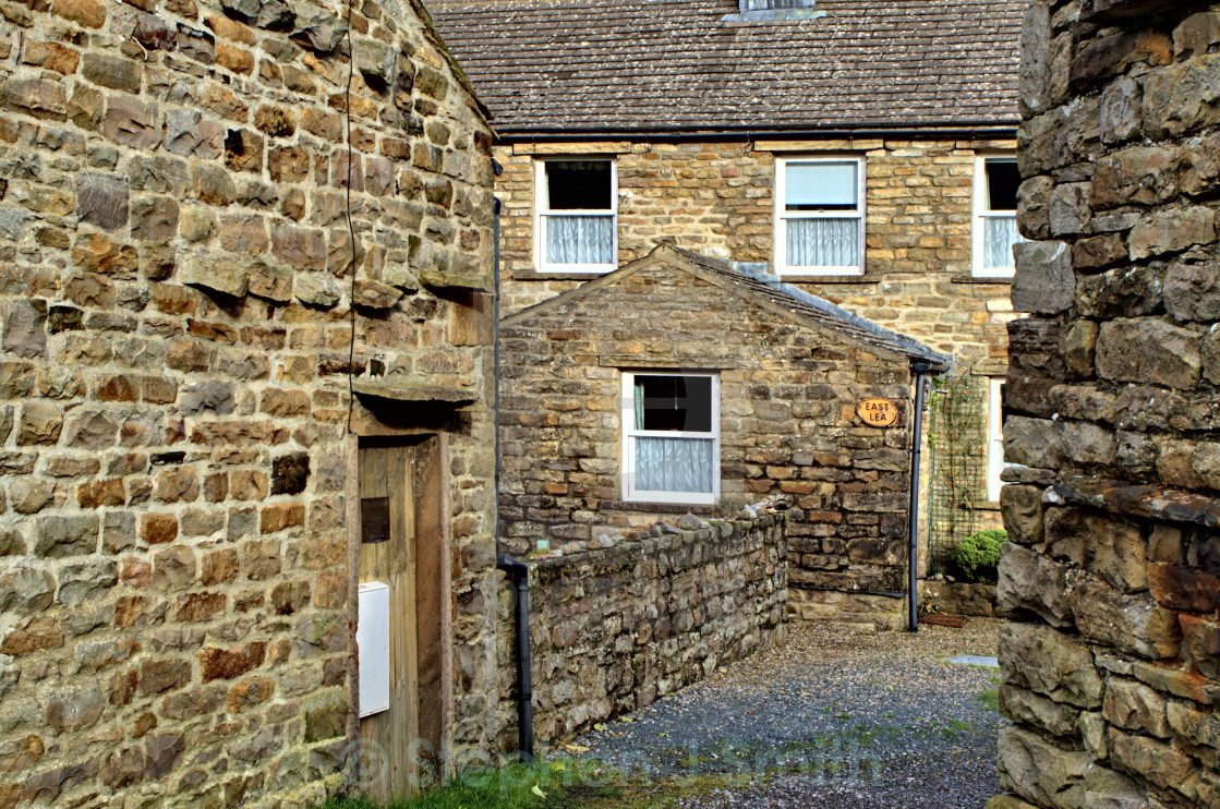 """Muker Cottages"" stock image"