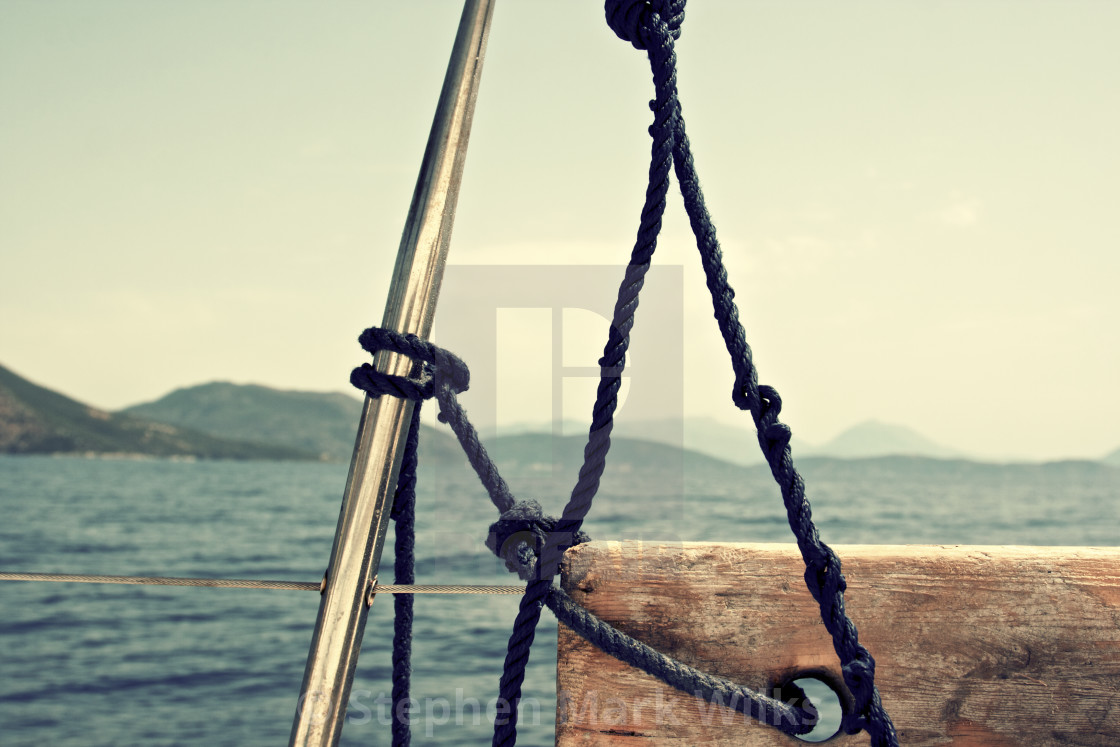 """Yacht Ropes"" stock image"