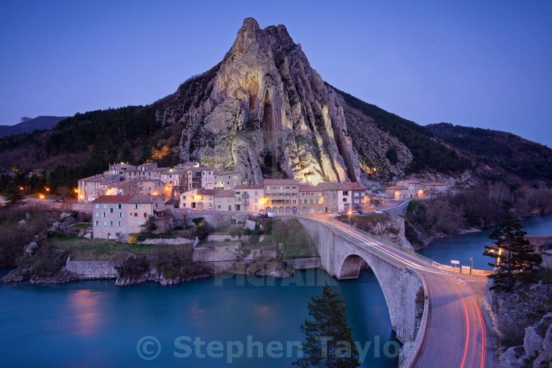 """Sisteron France"" stock image"