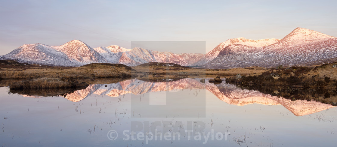 """Rannoch Moor Panorama"" stock image"