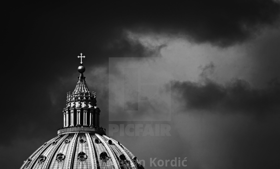 """""""Storm Over The Vatican"""" stock image"""