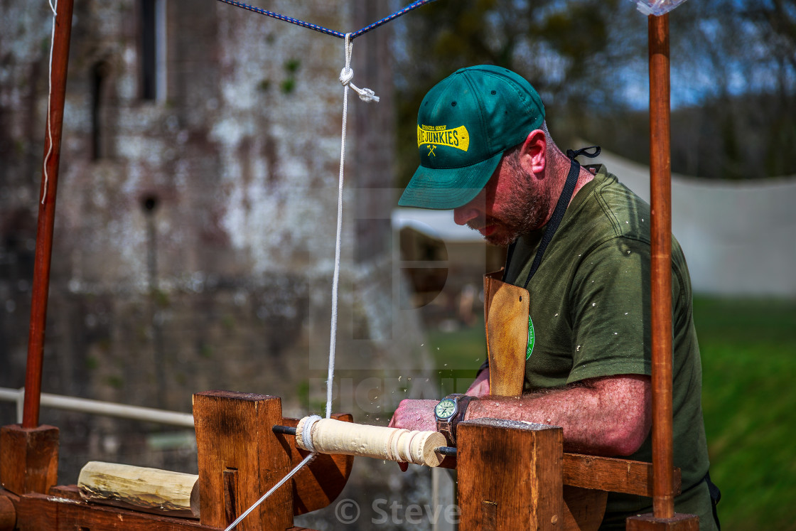 """Woodturner"" stock image"