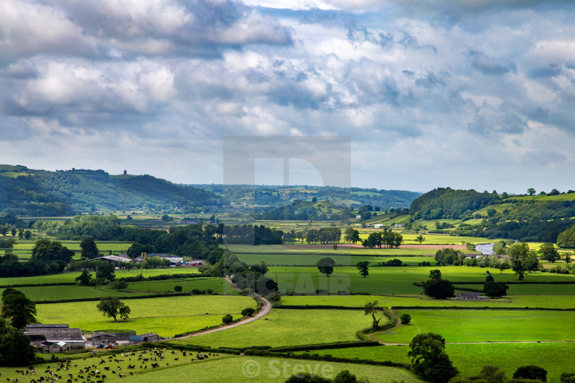 """""""Towy valley"""" stock image"""