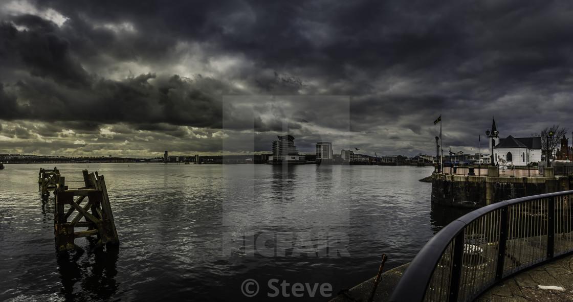 """Cardiff Bay."" stock image"