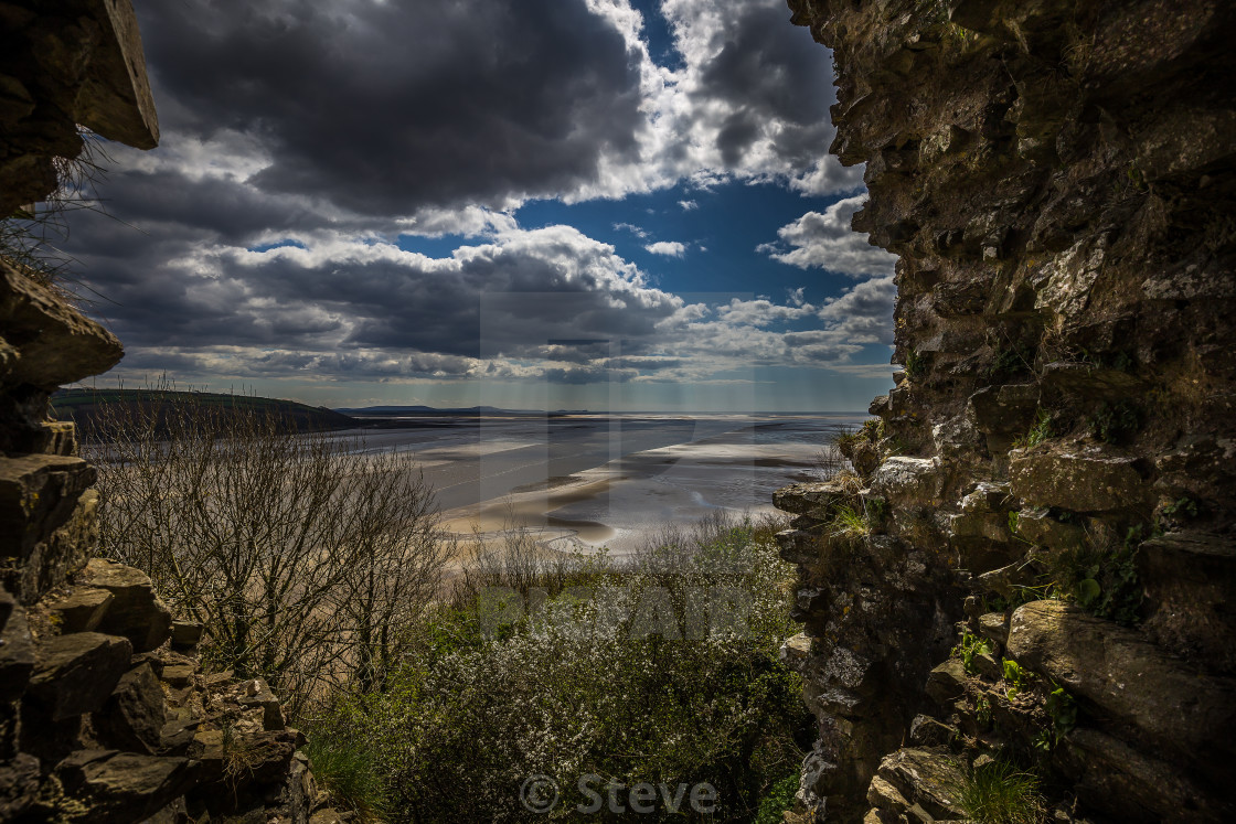 """""""View from castle."""" stock image"""