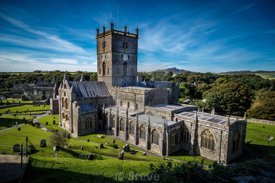 """""""St David's Cathedral."""" stock image"""