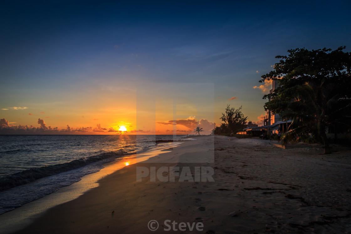 """Bajan sunset."" stock image"