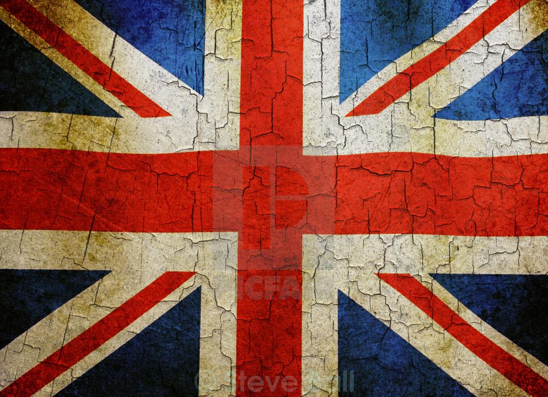 """""""Grunge Union flag"""" stock image"""