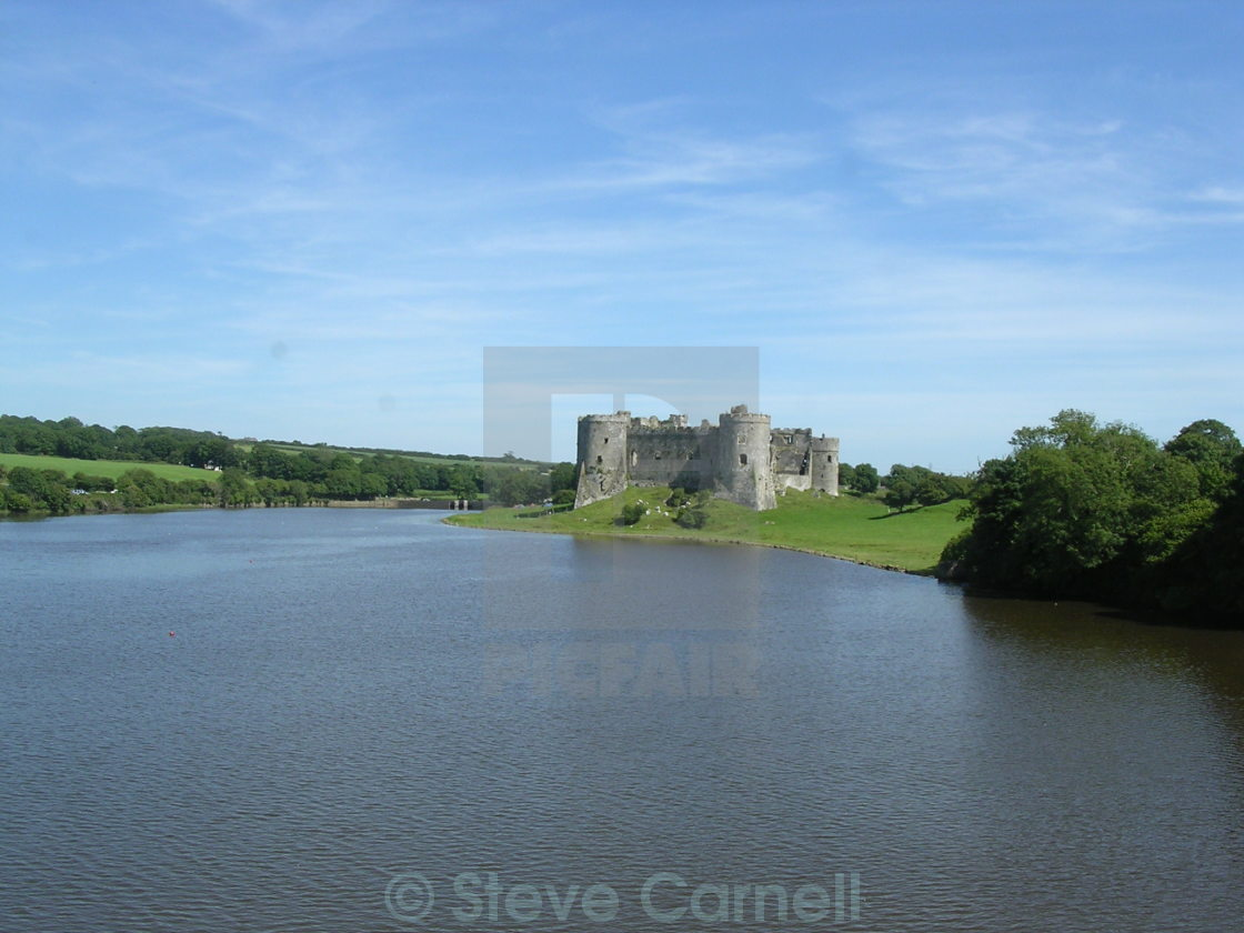 """Carew Castle"" stock image"