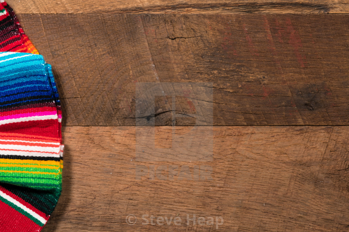 Cinco De Mayo Background On Wooden Boards Stock Image