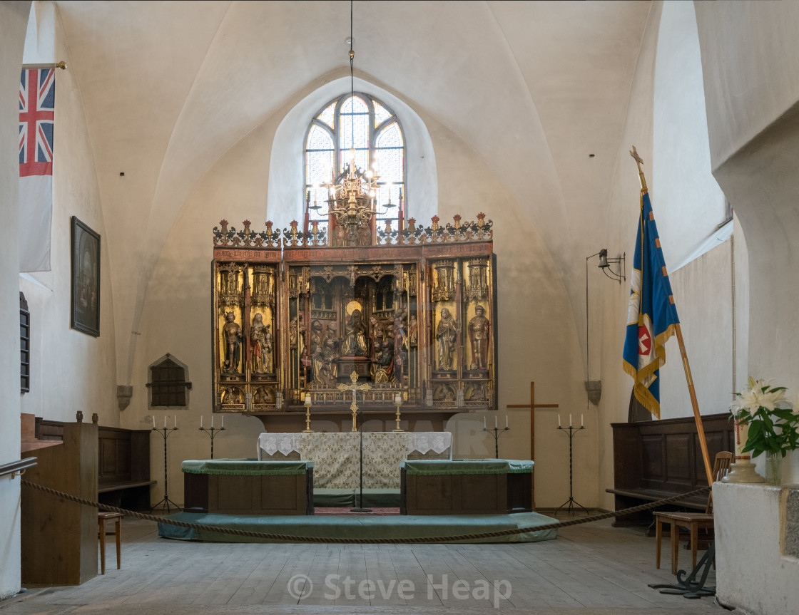 Carved altar in Church of Holy Spirit Tallinn - License, download or