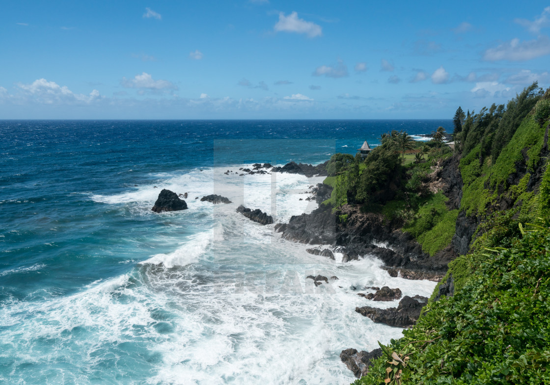 Gazebo on coast near Hana on Hawaiian island of Maui