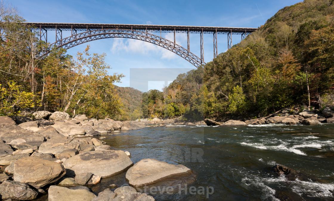 """New River Gorge Bridge in West Virginia"" stock image"
