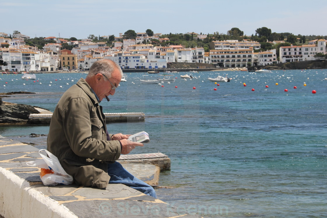 """""""Old man and the sea"""" stock image"""
