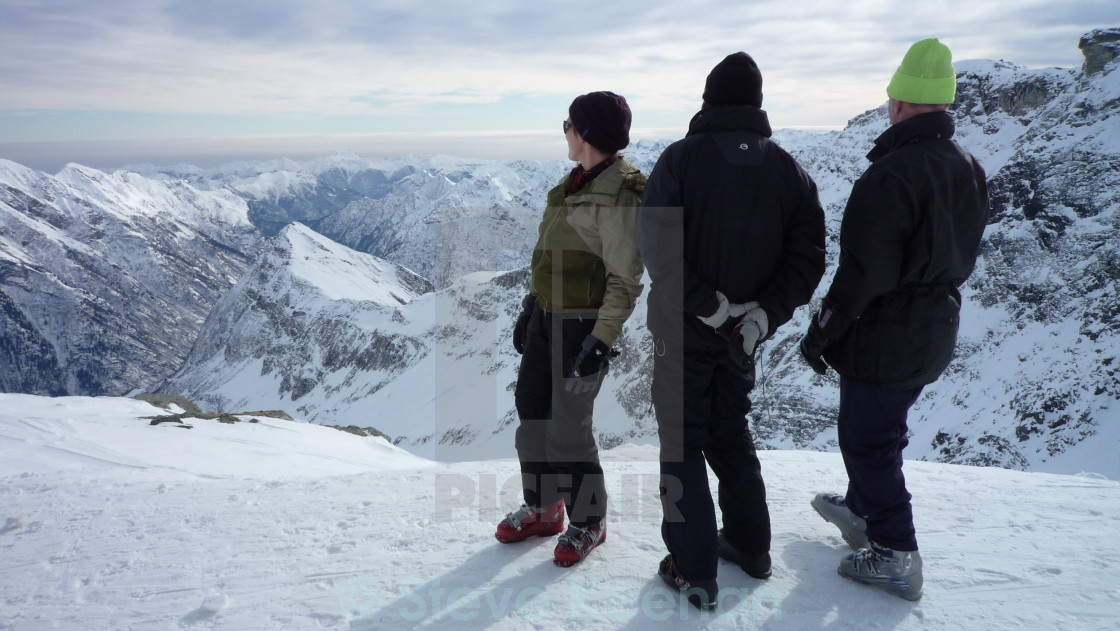"""""""Alps at your feet"""" stock image"""
