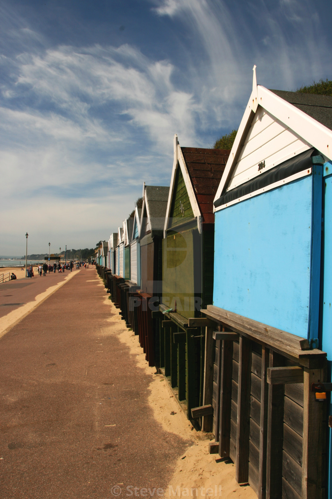 """Bournemouth beach huts portrait"" stock image"
