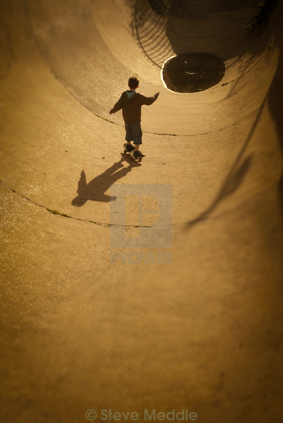 """The Rom Skatepark, Hornchurch, Essex, Britain - Augl 2010."" stock image"