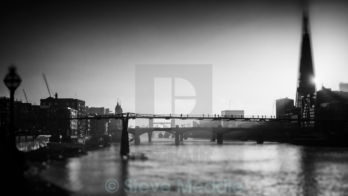 """Shard and Thames"" stock image"