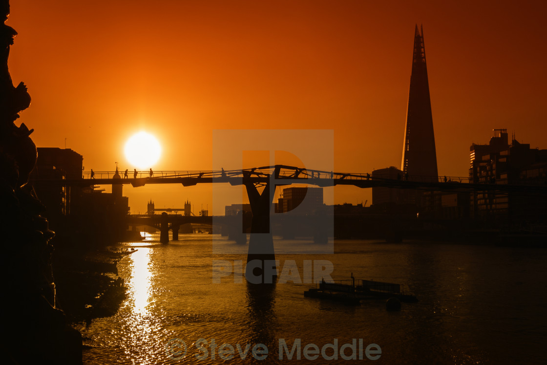 """Sunrise over The Shard"" stock image"