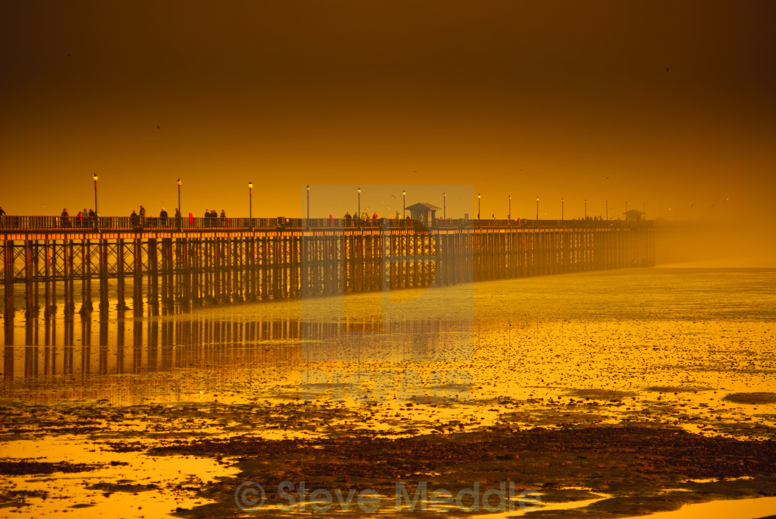 """Southend Pier, Longest in the World"" stock image"