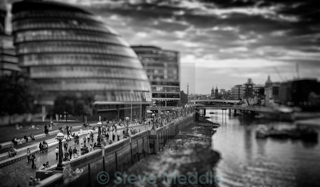 """City Hall, River Thames,London"" stock image"