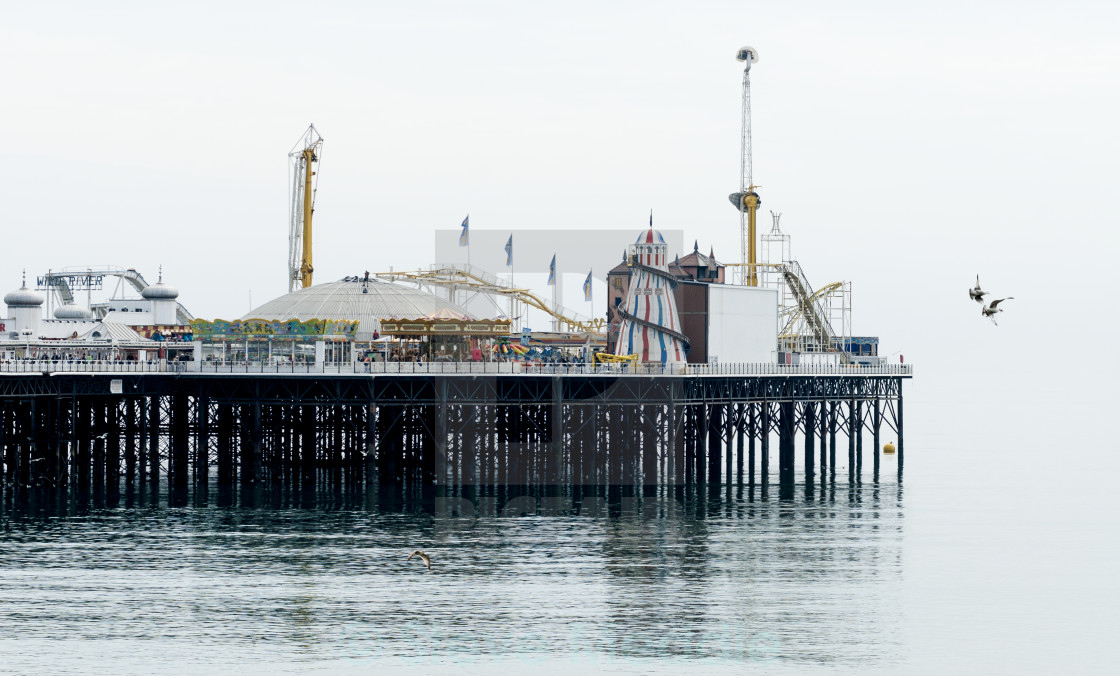 """End of Brighton Pier"" stock image"