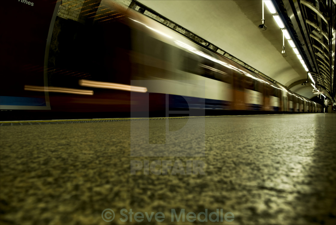 """Bank Underground Station"" stock image"