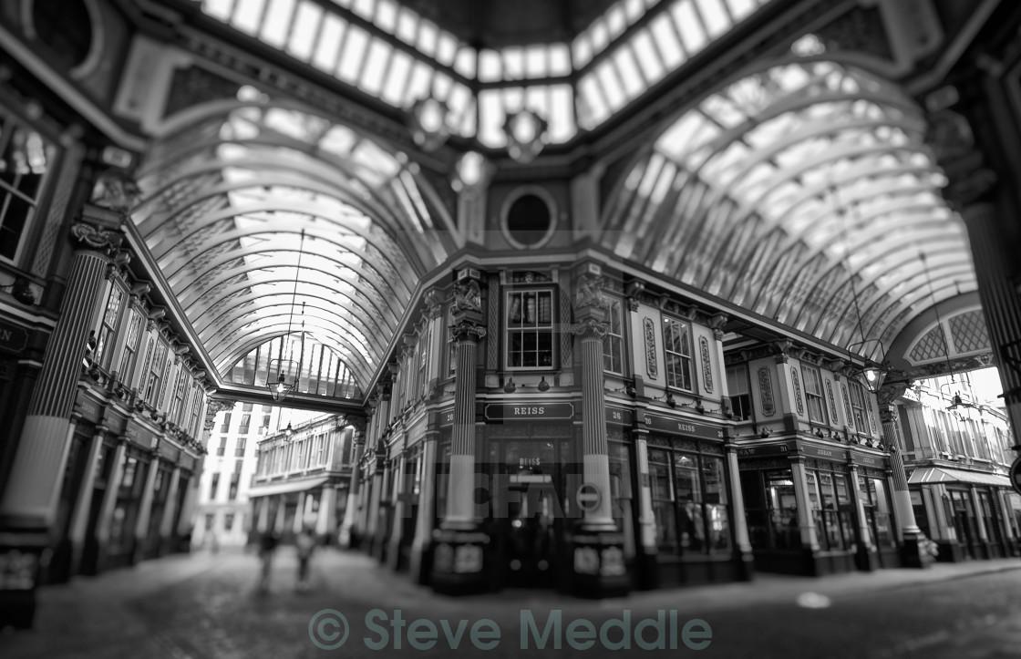 """Leadenhall Market, Gracechurch Street, London, Britain"" stock image"