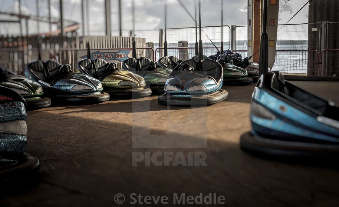 """Bumper Cars at Fairground"" stock image"