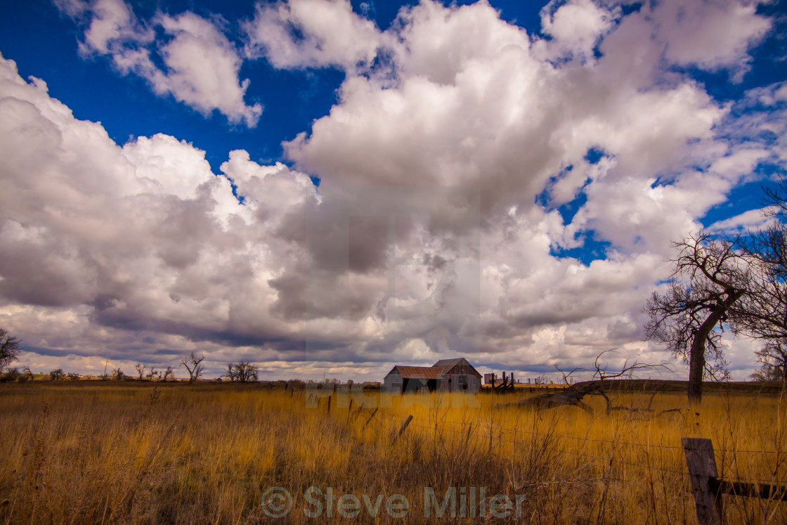 """Clouds over the fields"" stock image"