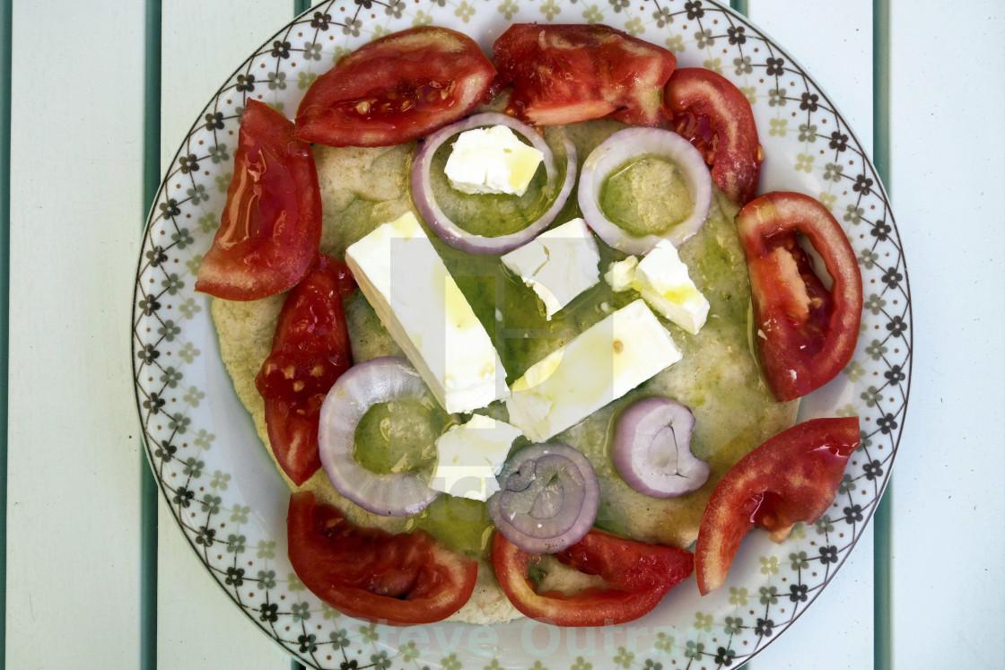 """Pita Bread Salad"" stock image"