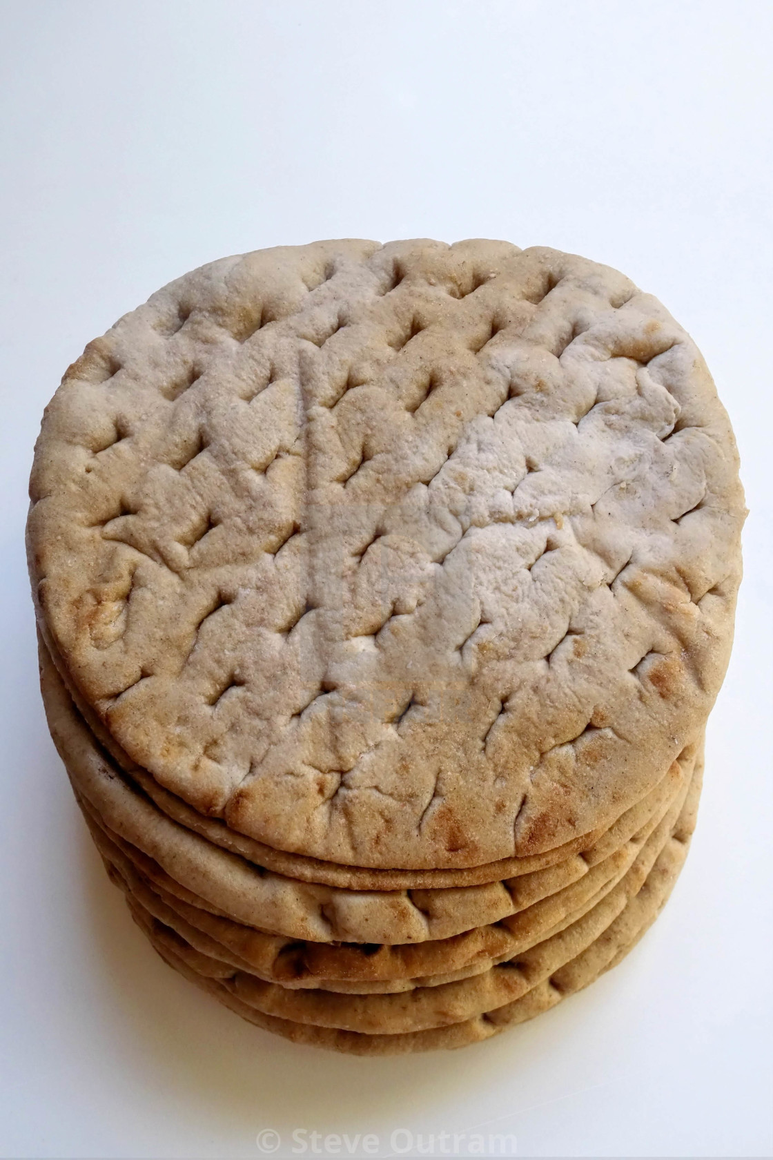 """Fresh Wholewheat Pita Bread"" stock image"