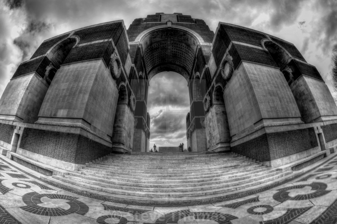 """Thiepval memorial"" stock image"