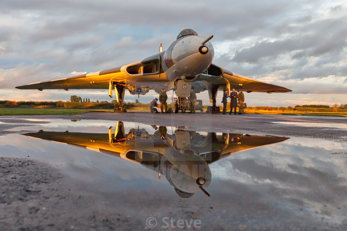 """Reflection of a Vulcan"" stock image"
