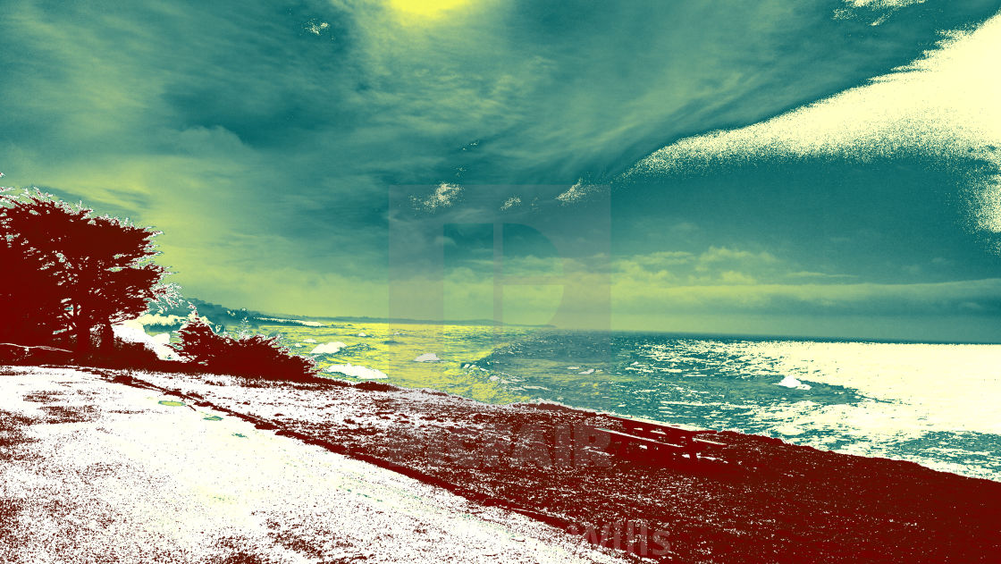 """""""Cloudy Day at the coast"""" stock image"""