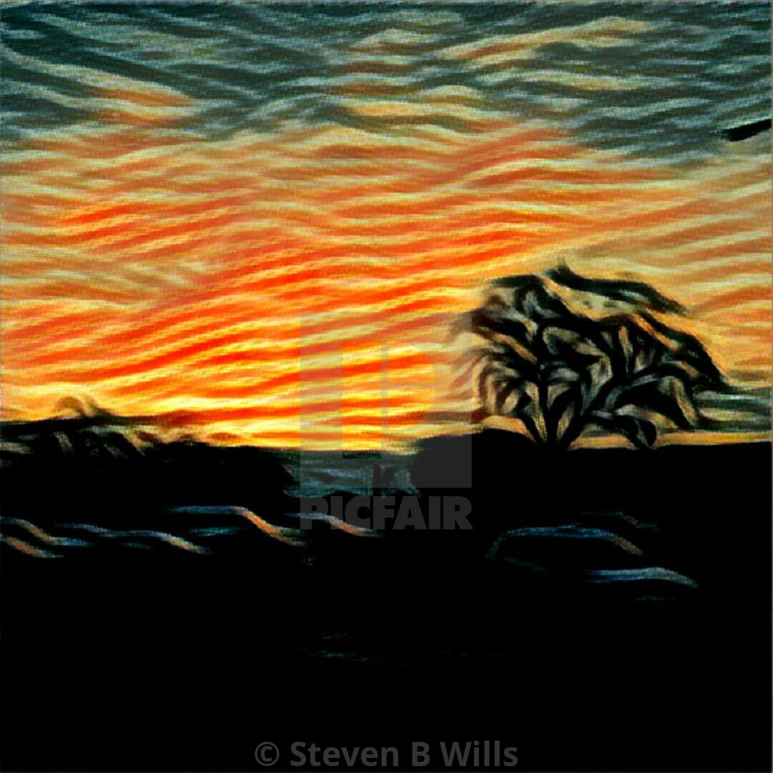 """Arty Sunset"" stock image"