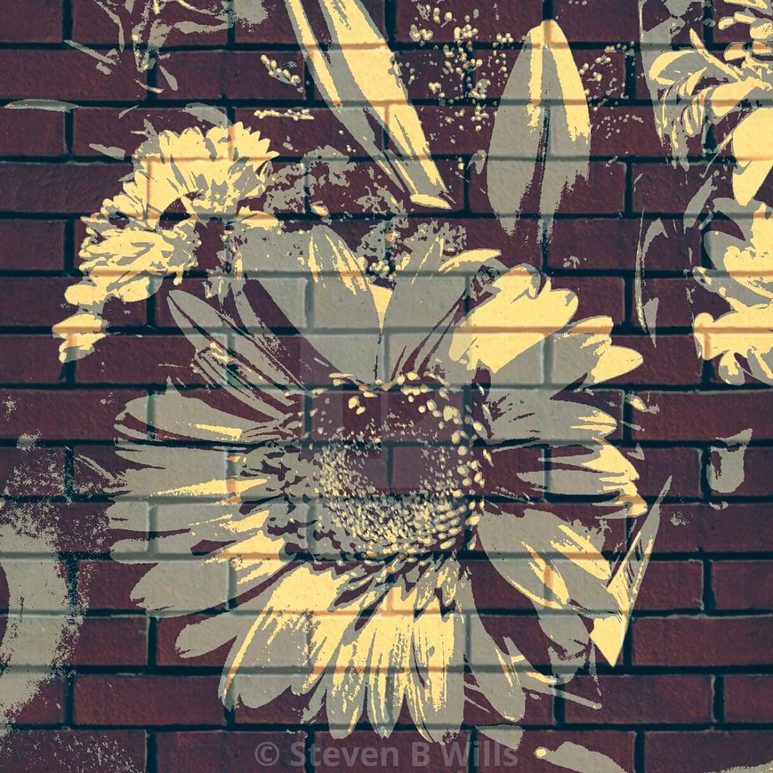 """Floral pop art"" stock image"