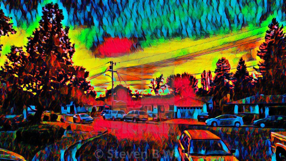 """""""Lovely Sunset"""" stock image"""