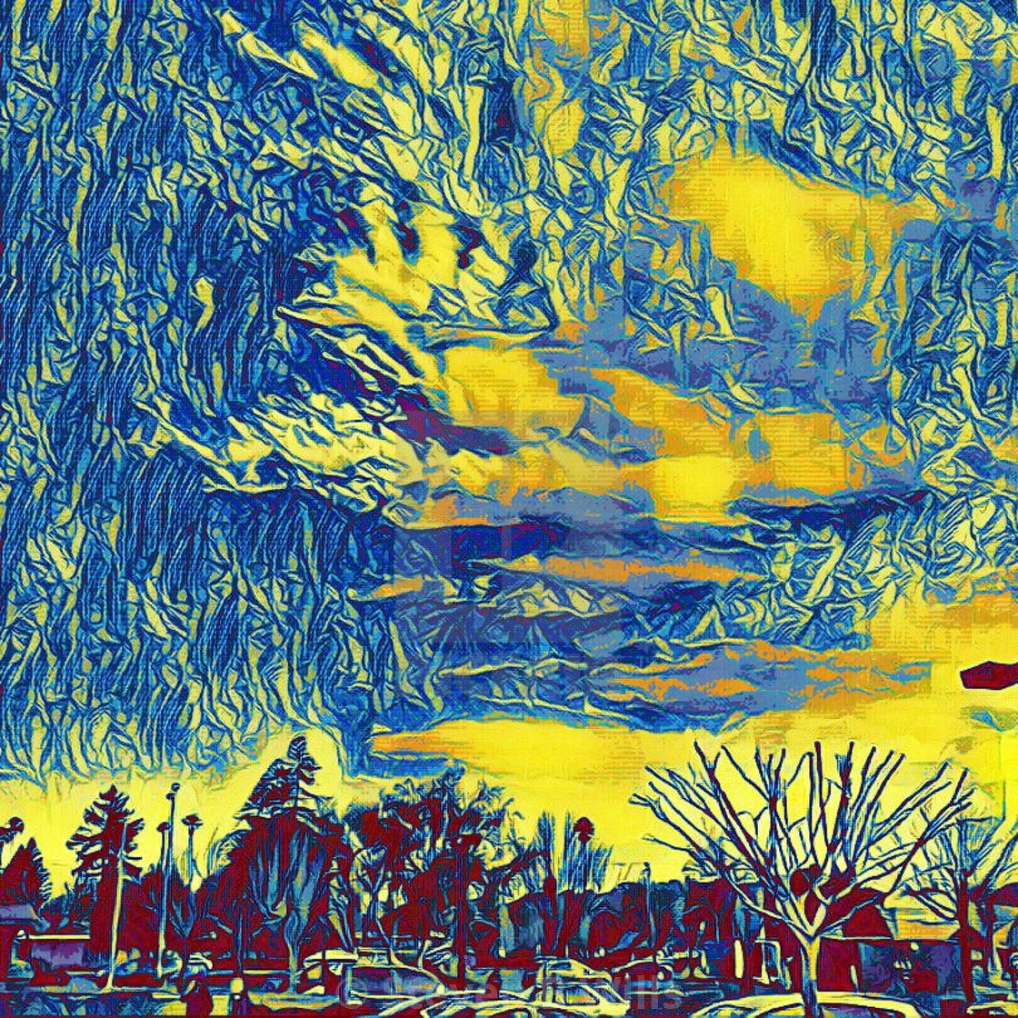 """""""Colorful sky popart"""" stock image"""