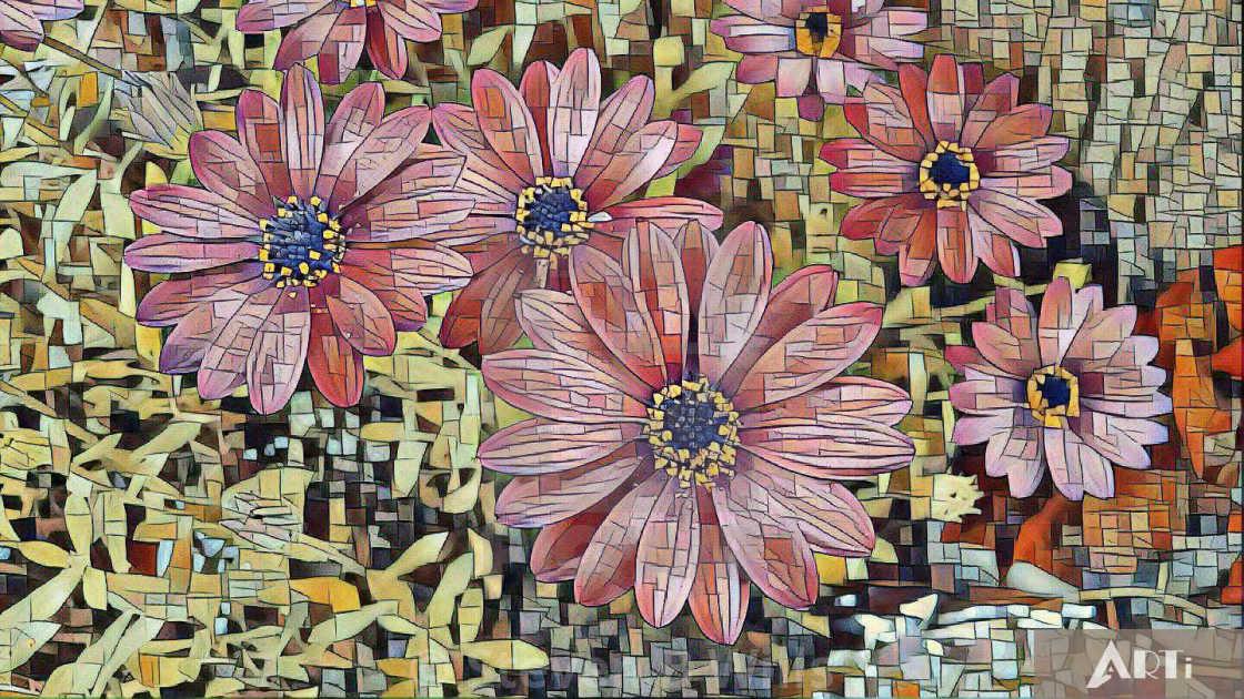 """""""Reddish flower art"""" stock image"""