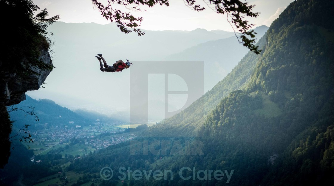 """Base Jumper"" stock image"